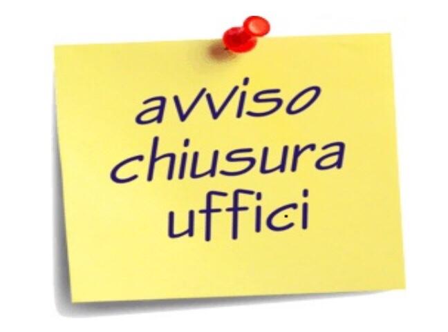 CHIUSURA UFFICIO TECNICO MERCOLEDI' 17.10.2018
